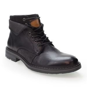 Robert Wayne Jef Leather Lace Up Ankle Boots